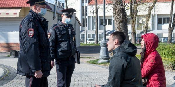 В центре Краснодара патрули будут следить за соблюдением масочного режима