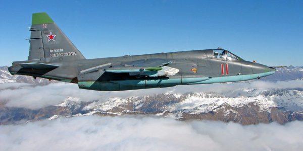 На Кубани на учениях штурмовики Су-25СМ сбросили на землю 1,5 тыс. авиабомб