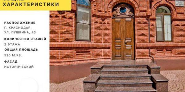 В Краснодаре за 350 млн рублей выставили на продажу дом нотариуса XIX века
