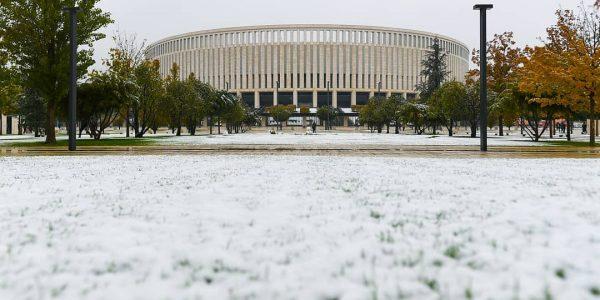 В парке «Краснодар» попросили посетителей не ходить по замерзшей траве