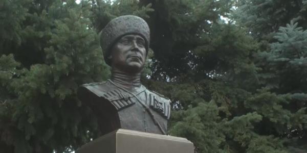 В станицу Кавказскую передали из Финляндии бюст полковника Елисеева