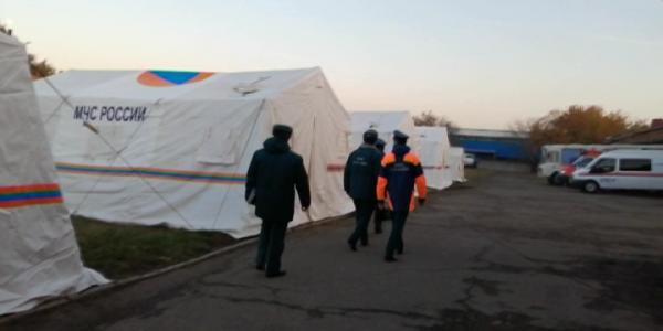 В Краснодаре спасатели проверили готовность мобильных пунктов обогрева