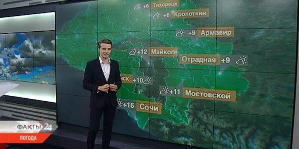 На Кубани 3 декабря температура воздуха днем поднимется до +9 °С