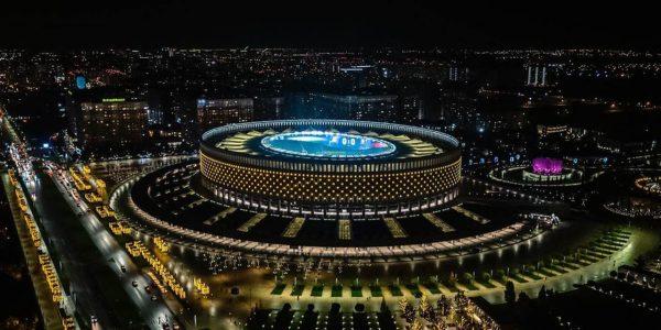 На стадионе ФК «Краснодар» завершили новогоднее оформление