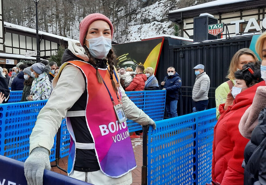 В Сочи с начала горнолыжного сезона туристам выдали более 70 тыс. масок