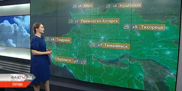 В Краснодарском крае 22 января будет переменная облачность
