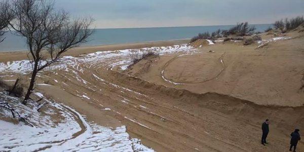 В Анапе обнаружили факт разрытия песчаной дюны