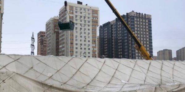 В Краснодаре к 28 января завершат ремонт спорткомплекса с воздухоопорной крышей