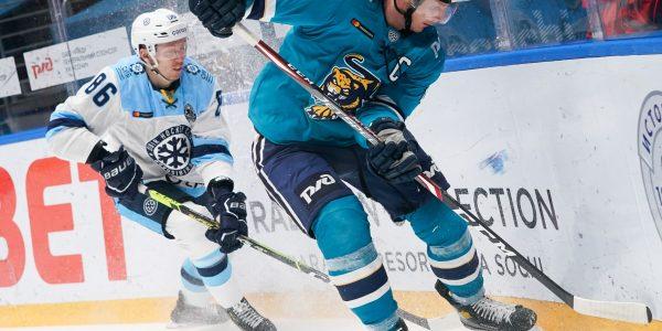 ХК «Сочи» обыграл «Сибирь», прервав серию из семи поражений подряд