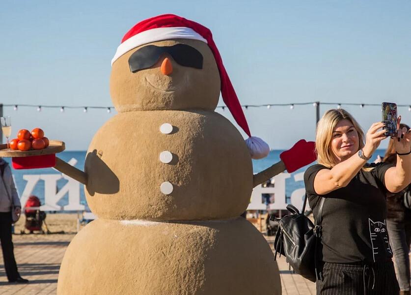 Анапу во время новогодних праздников посетили более 30 тыс. туристов