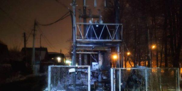В Краснодаре в СНТ «Охрана» ночью сгорел трансформатор