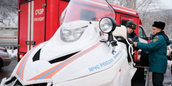 МЧС развернуло на дорогах Краснодарского края мобильные пункты обогрева