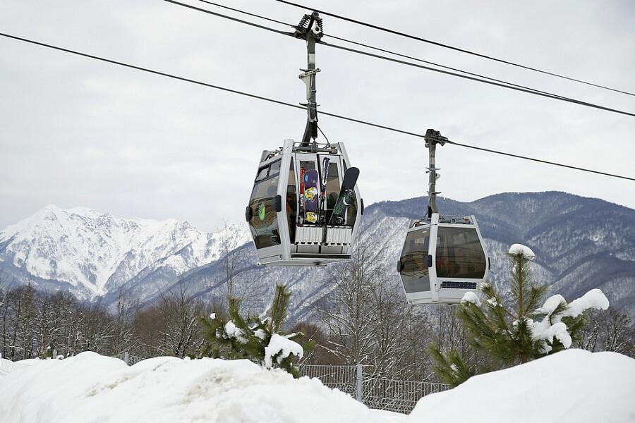 Отели горнолыжных курортов Сочи загружены на 85%
