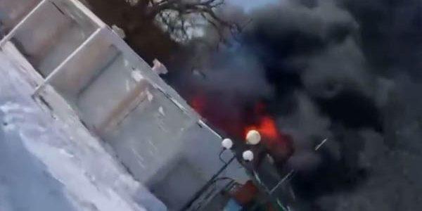 Под Темрюком на базе отдыха потушили пожар площадью 100 кв. м