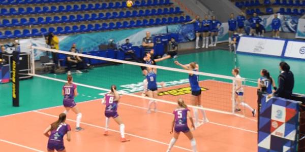 Краснодарский ВК «Динамо» в матче Суперлиги обыграл «Тулицу» со счетом 3:2