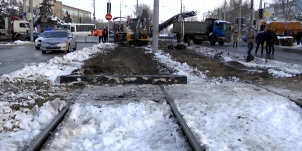 В Краснодаре начались работы по строительству трамвайной ветки на Московской