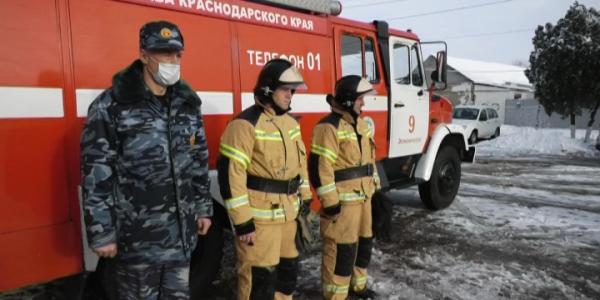 Министр ГО и ЧС Кубани проверил готовность пожарных частей Крымского района