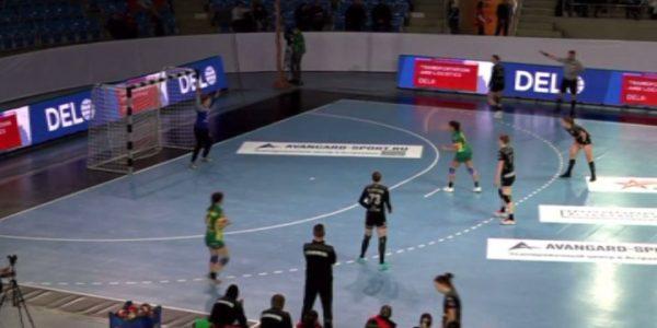 ГК «Кубань» обыграл «Астраханочку» со счетом 22:23 в очередном туре Суперлиги