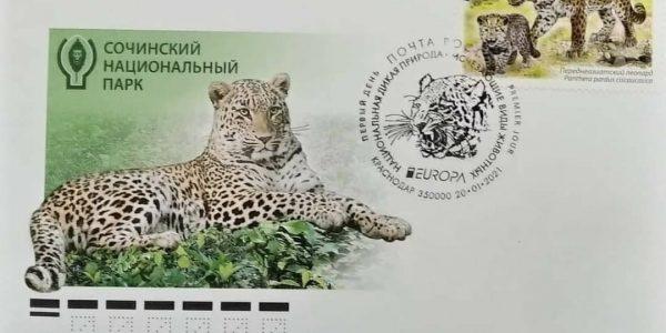 Почта России выпустила марку в поддержку переднеазиатского леопарда