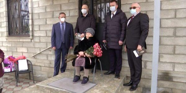 В Динском районе ветеран войны Раиса Малык отмечает 100-летний юбилей