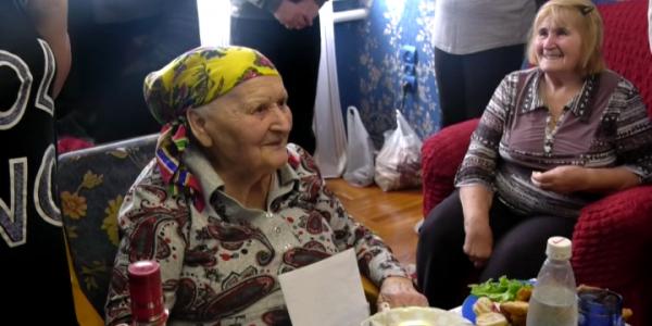 Ветеран труда Надежда Непомнящая из Крымского района отметила 90-летний юбилей