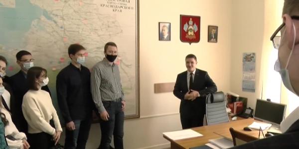В администрации Краснодарского края провели экскурсию для студентов КубГАУ
