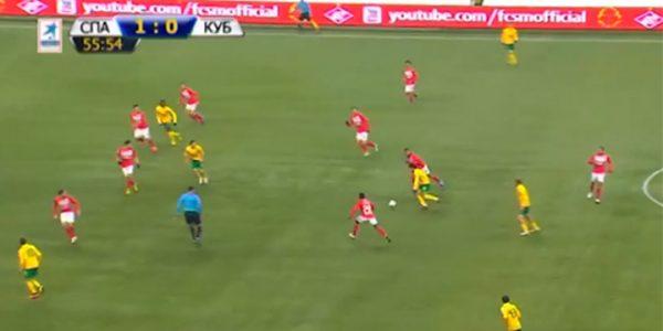 Мяч, забитый футболистом «Кубани», признали одним из лучших в РПЛ за 10 лет