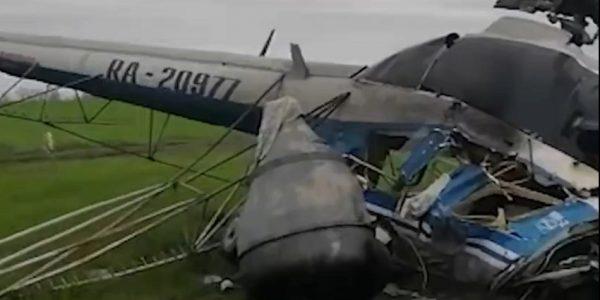 К месту крушения вертолета в Северском районе выехали следователи