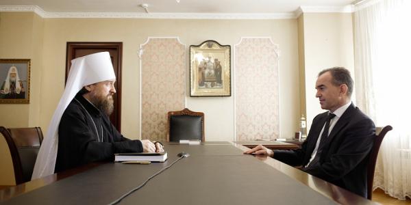 Кондратьев встретился с митрополитом Екатеринодарским и Кубанским Григорием