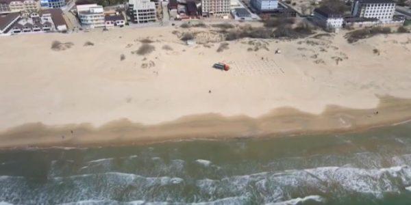 В Анапе к туристическому сезону благоустраивают пляж на Пионерском проспекте