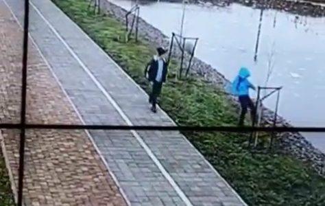 В Кореновске юные вандалы сломали распорки для молодых деревьев у реки. Видео