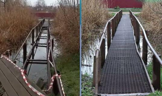 В Кореновске по просьбе жителей отремонтировали мост через реку Левый Бейсужек