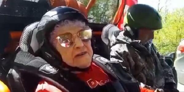 В Сочи 99-летняя ветеран войны приняла участие в гонках на квадроциклах