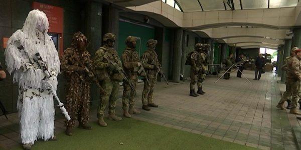 В Сочи прошли выставка боевой техники и показательные выступления военнослужащих