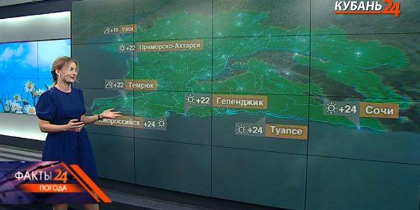 В Краснодарском крае 21 мая температура воздуха днем поднимется до +32 °С