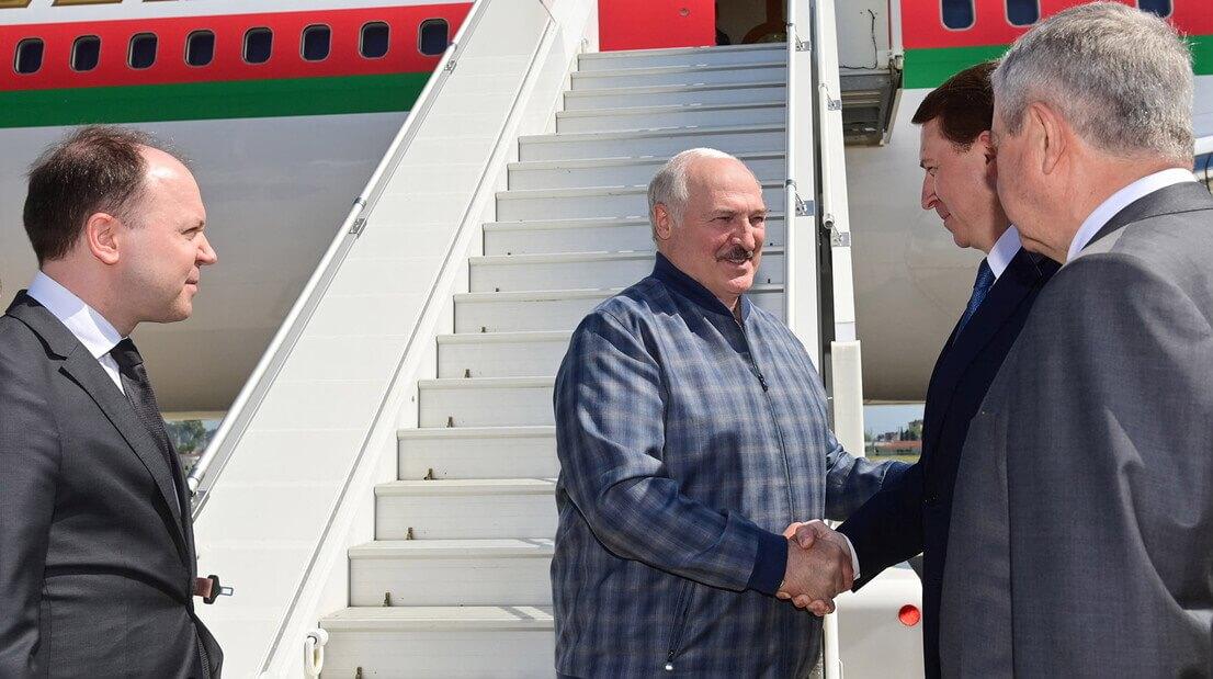 Александр Лукашенко прибыл в Сочи