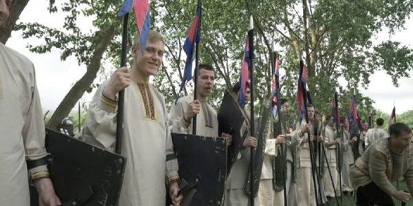 В Краснодаре в реконструкции событий Невской битвы участвовали около 350 человек