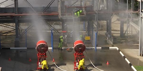 В Сочи на Адлерской ТЭС прошли пожарно-тактические учения