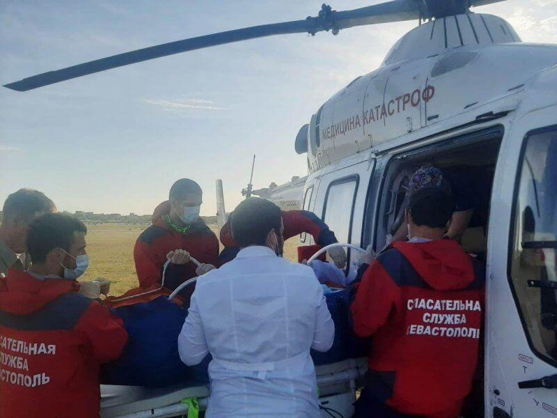 Борт санавиации доставил в Краснодар девочку, пострадавшую при пожаре в Крыму