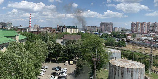 В Краснодаре произошел пожар в районе завода МЖК