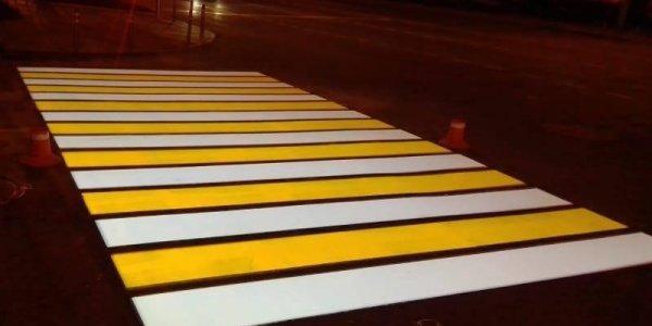 К концу 2022 года в Краснодаре появятся еще 19 пешеходных переходов с подсветкой