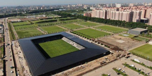 Опубликованы новые фотографии с места строительства стадиона ФК «Краснодар-2»