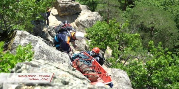 В Северском районе прошли сборы по горной подготовке спасателей