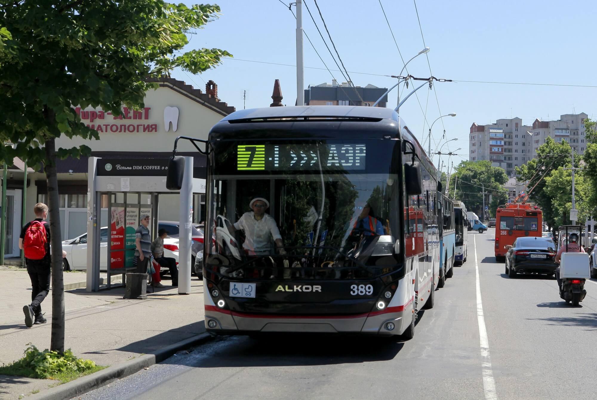 В Краснодаре на маршрут вышел первый троллейбус собственной сборки. Фоторепортаж