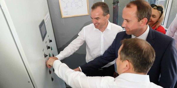 Вице-премьер РФ и губернатор Кубани запустили новый водопровод в Геленджике