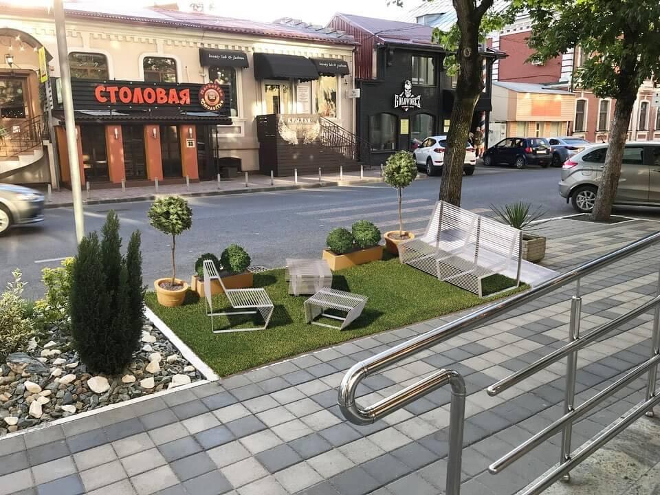 В Краснодаре на улице Красноармейской планируют установить парклеты