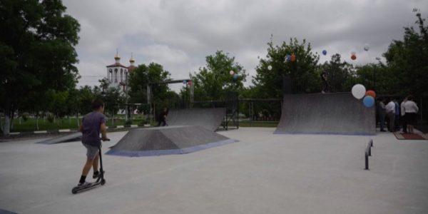 В пригороде Новороссийска открыли современный скейт-парк