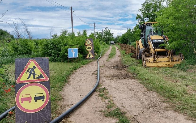 В Новокубанском районе построили новый газопровод