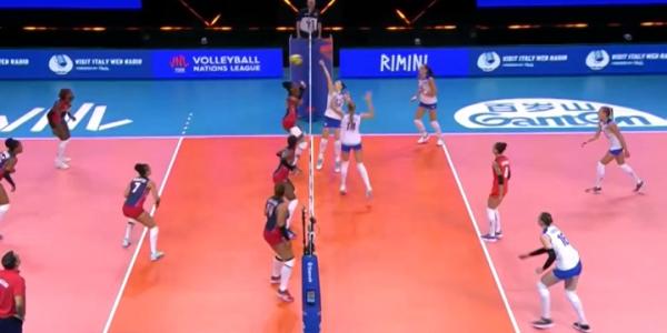 Женская сборная России по волейболу на 7 позиции в Лиге наций по итогам 3 этапа