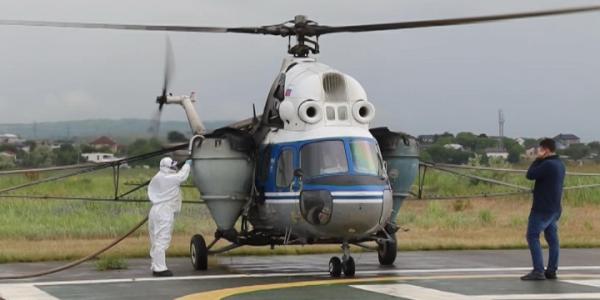 Анапские плавни с вертолета обработали от комаров